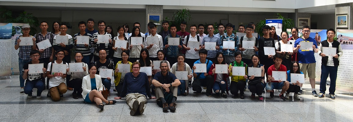 NEU students with certificates